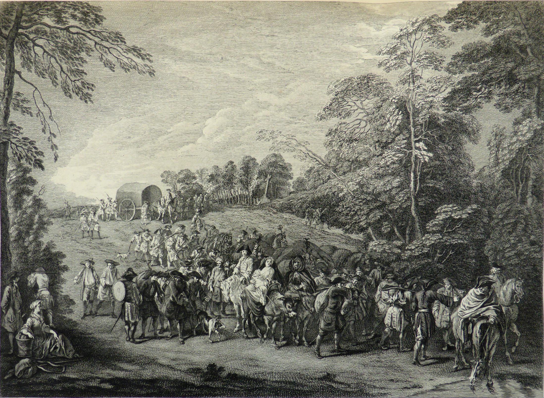 watteau-1710 ca Retour de Campagne grave par Cochin