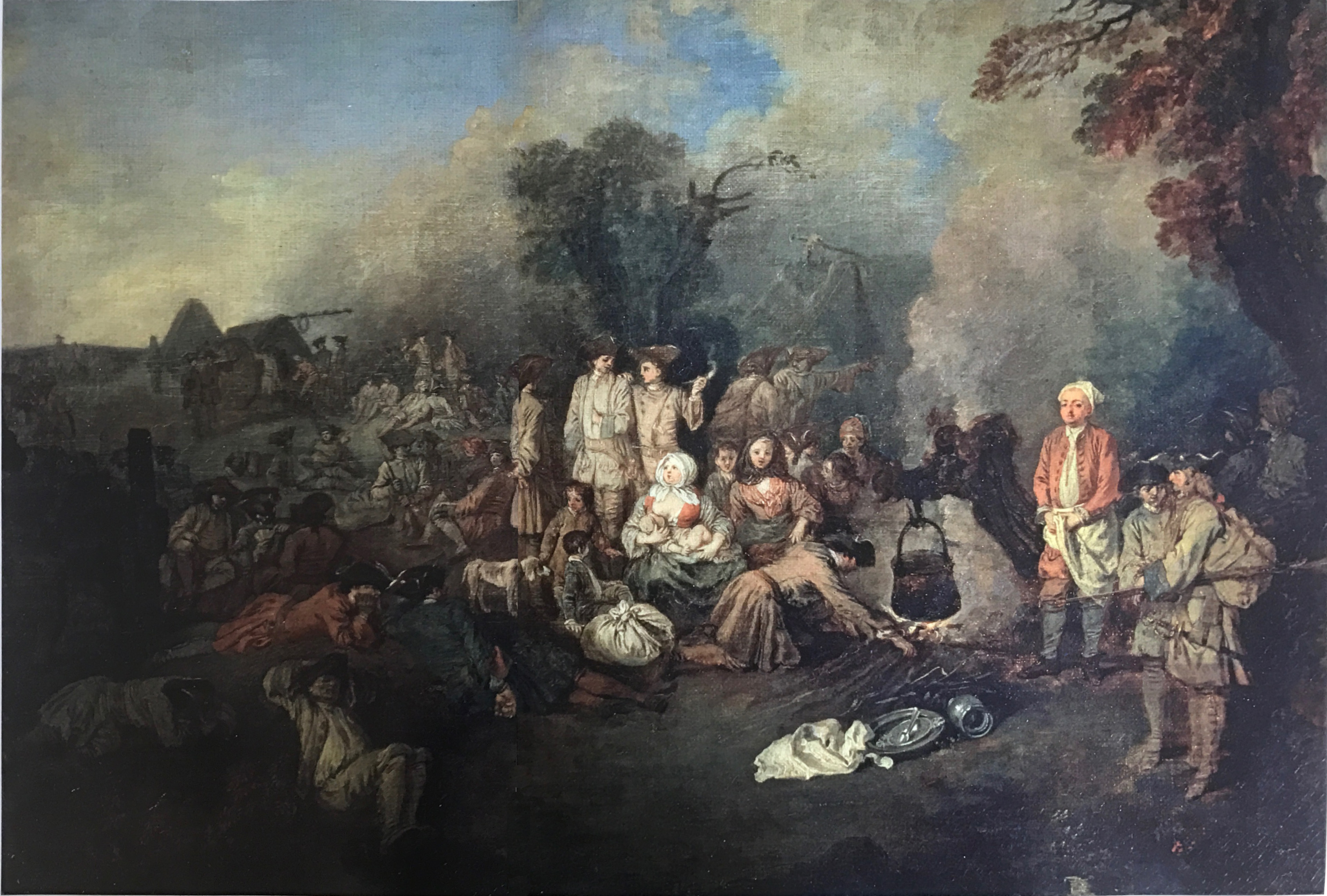 watteau-1710 ca le-camp-volant Musee Pouchkine Moscou