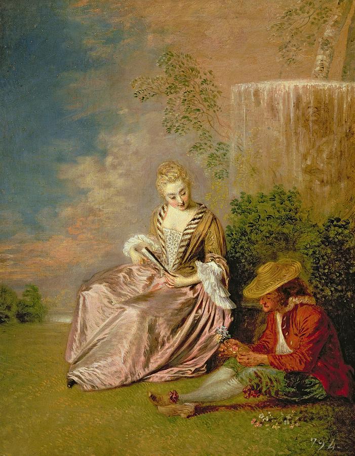 watteau 1716-18 l amoureux timide palais Royal madrid