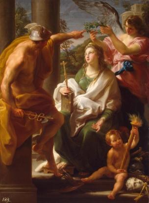BATONI Pompeo 1747 Mercure couronnant la Philosophie, Mere des Arts Ermitage Saint Petersbourg