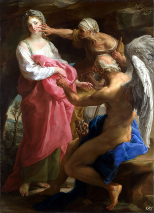BATONI Pompeo 1747 Time Orders Old Age to Destroy Beauty National Gallery Londres