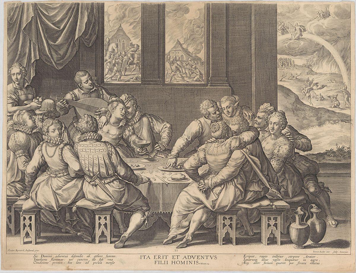 Barends Dirck grav Johann Sadeler 1568–1600 Mankind Awaiting the Last Judgement,Matt 24