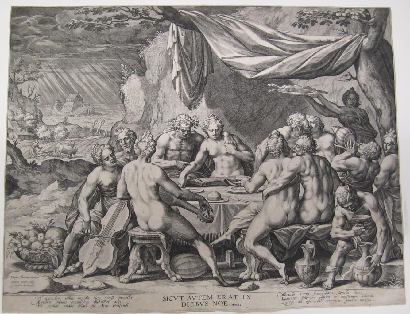 Barends Dirck grav Johann Sadeler 1568–1600 Mankind before the flow,Matt 24