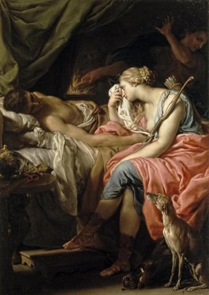 Batoni Pompeo 1740-43 Atalante pleurant Meleagre Collection privee