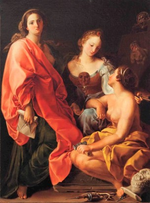 Batoni Pompeo 1740 La Peinture La Sculpture l'Architecture copie
