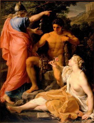 Batoni Pompeo 1742 Hercule a la croisee des chemins Palais Pitti Florence