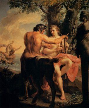 Batoni Pompeo 1745 Achille eduque par Chiron Galleria_degli_Uffizi,_Florence