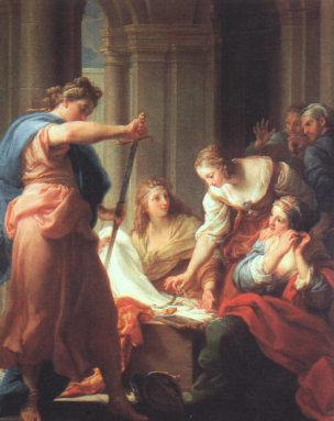 Batoni Pompeo 1745 Achilles_at_the_Court_of_Lycomedes,_Galleria_degli_Uffizi,_Florence