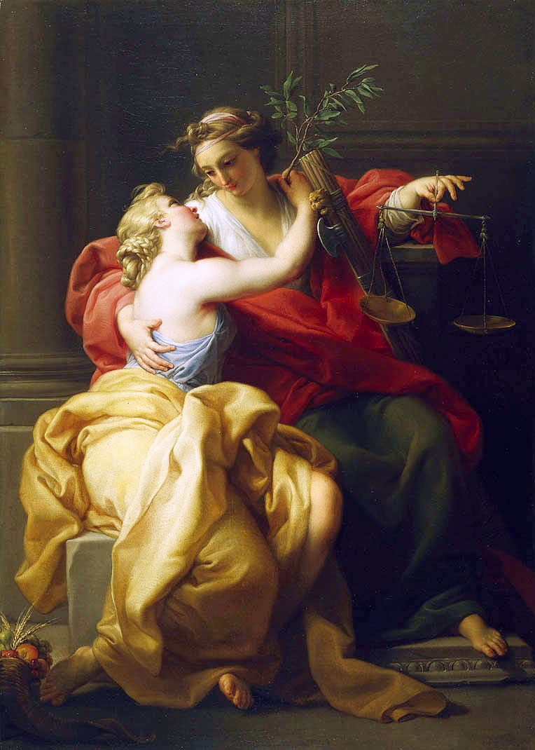 Batoni Pompeo 1745 ca _Peace and Justice Montreal Museum of Fine Arts