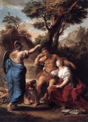 Batoni Pompeo 1748 Hercules at the Crossroads, Collections du Prince de Lichtenstein
