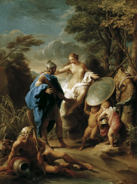 Batoni Pompeo 1748 Venus Presenting Aeneas with Armour Forged by Vulcan,Collections du Prince de Lichtenstein