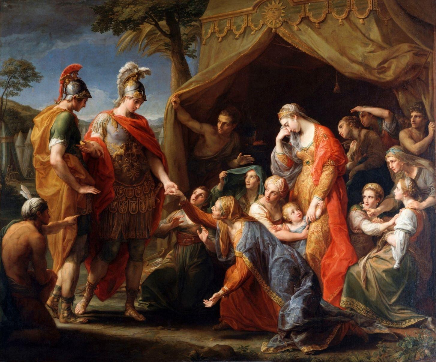 Batoni Pompeo 1775 La clemence d'Alexandre