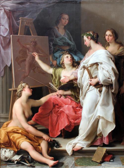 Batoni Pompeo Allegorie des Arts Staedel Museum Francfort