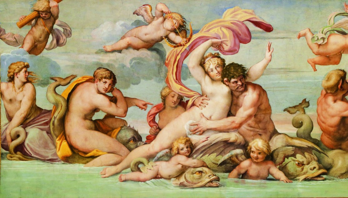 Carraci Le triomphe de Galathee Galerie Farnese Rome