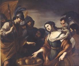 Gregorio Preti David et Abigail Palais Taverna di Montegiordano Rome, 140 x 166 cm