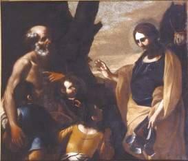 Gregorio Preti Erminie et les bergers Palais Taverna di Montegiordano Rome, 140 x 166 cm