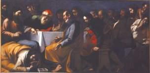 Gregorio Preti Le repas dans la maison du Pharisien Palais Taverna di Montegiordano Rome, 147 x 293 cm