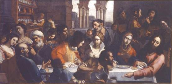 Gregorio Preti Les noces de Cana Palais Taverna di Montegiordano Rome, 147 x 293 cm