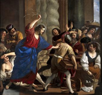 Guerchin Le Christ chassant les marchands du Temple Palazzo Rosso Genes