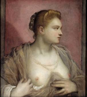La courtisane Veronica Franco, Le Tintoret, 1555, Musee du Prado