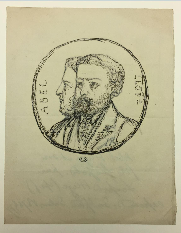 Leopold Armand Hugo Autoportrait avec son pere Abel copyright Musee des Arts Decoratifs Paris