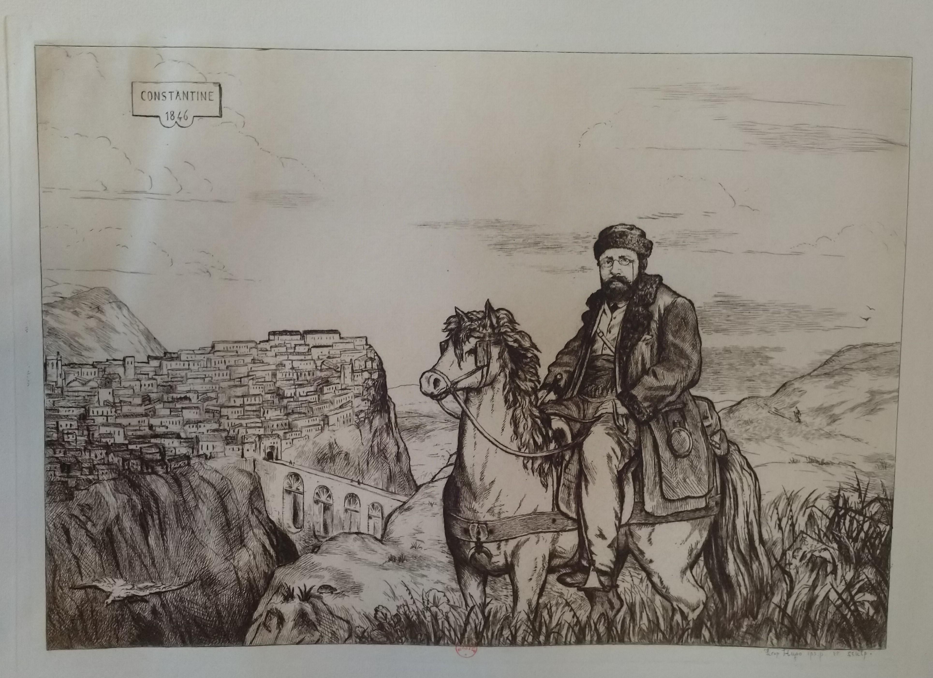 Leopold Armand Hugo BNF 1846 Autoportrait a Constantine (CIRTA)