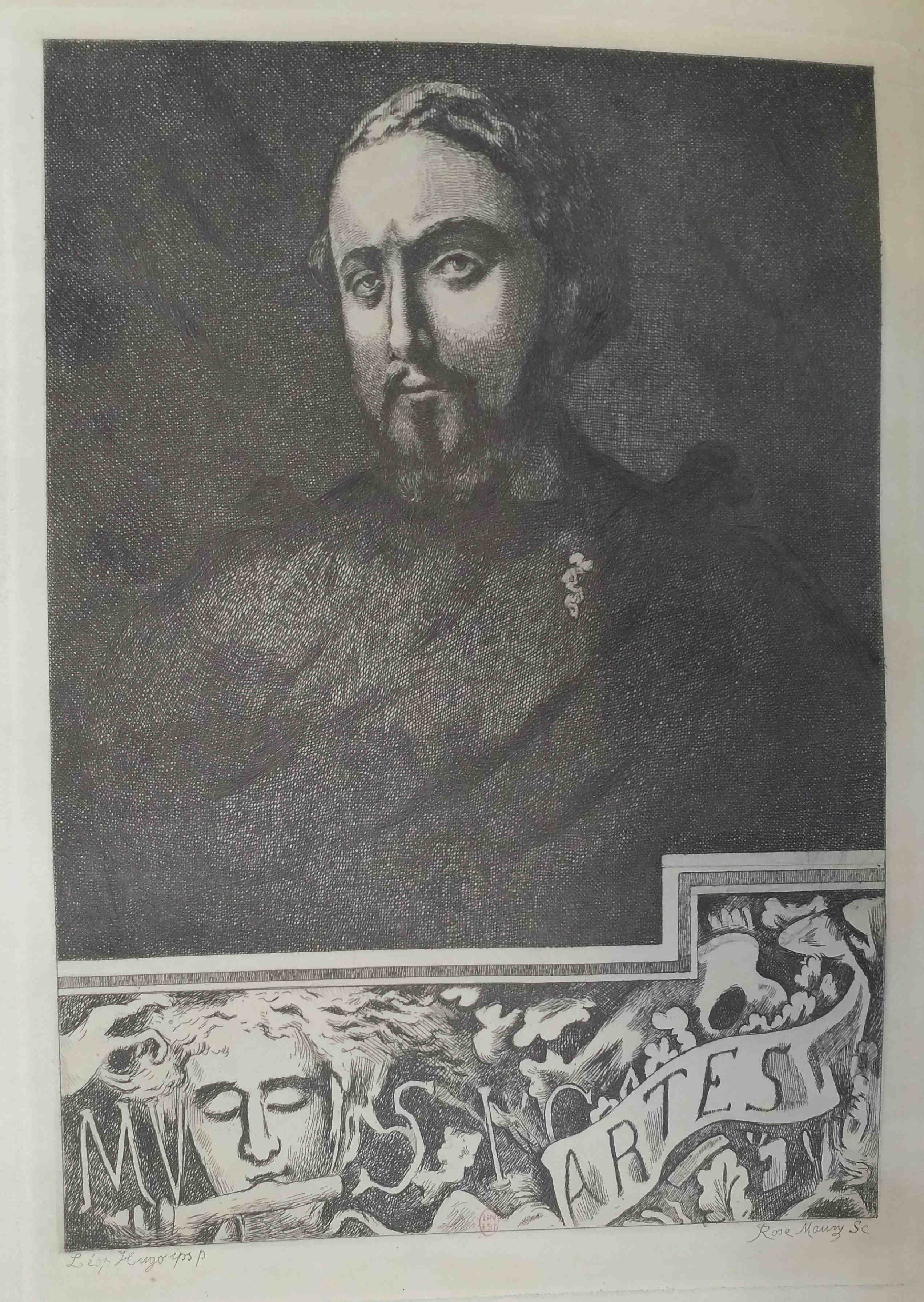 Leopold Armand Hugo BNF Autoportrait Musica Artes Rose Maury