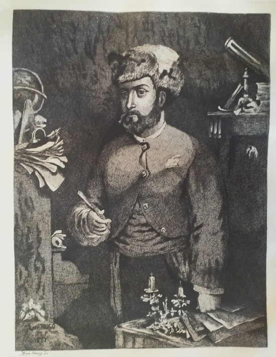 Leopold Armand Hugo BNF Autoportrait a la toque 1861 Rose Maury