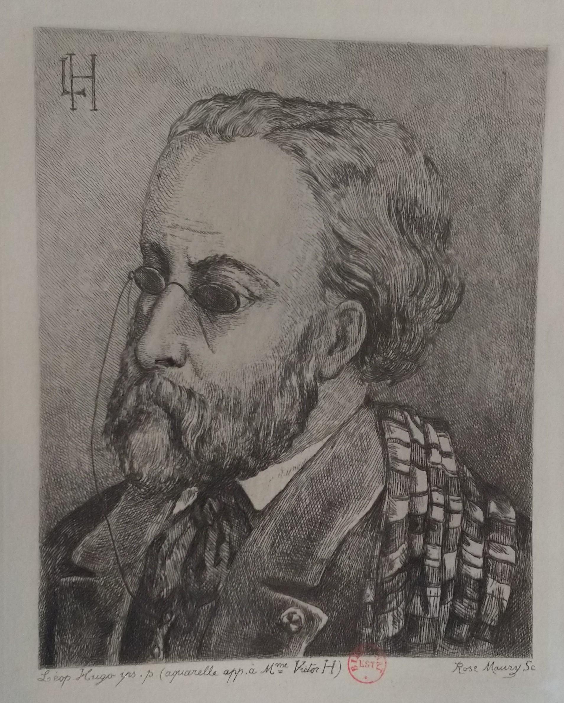 Leopold Armand Hugo BNF Autoportrait aux lunettes