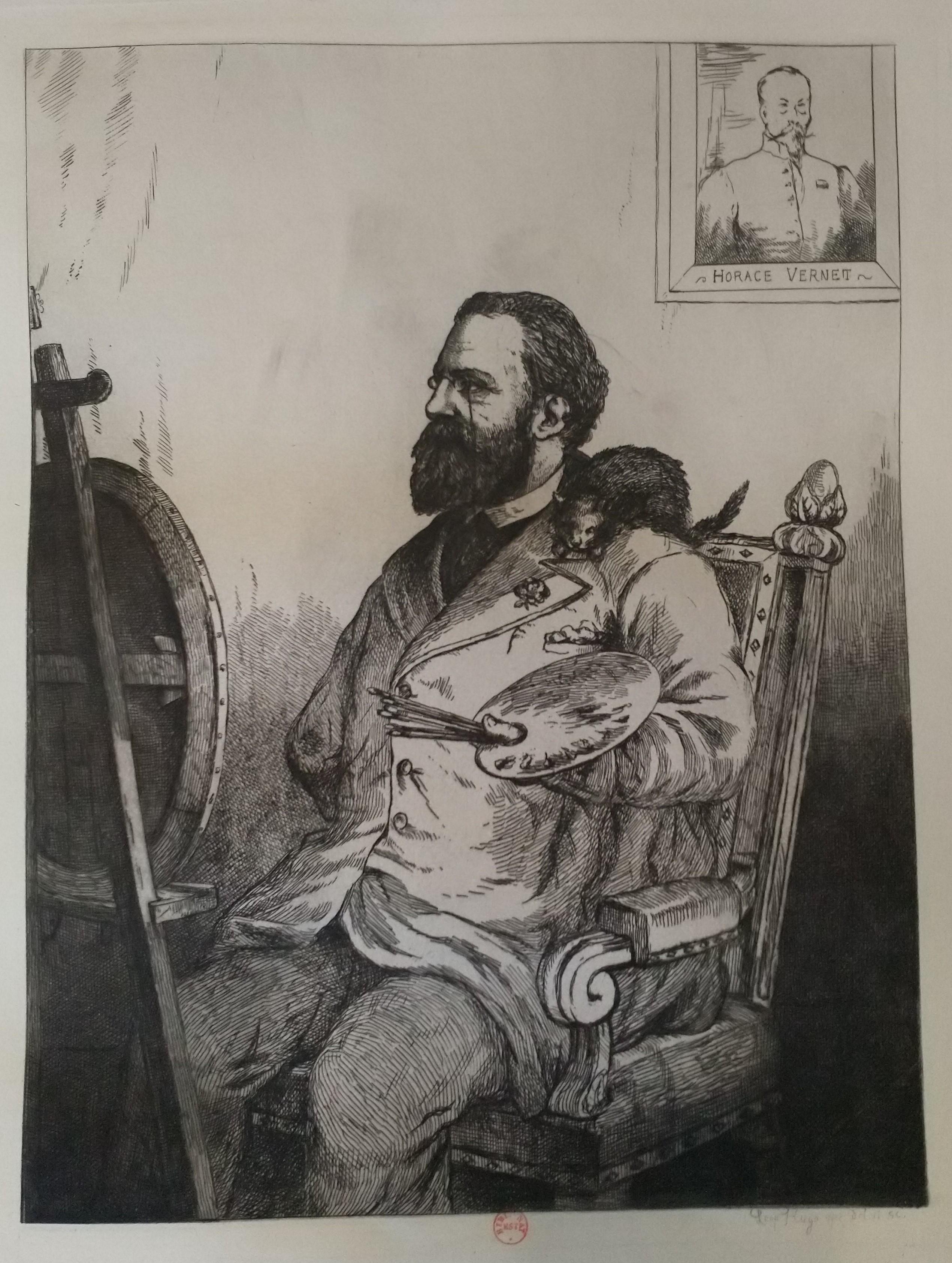 Leopold Armand Hugo BNF Autoportrait avec Horace Vernet