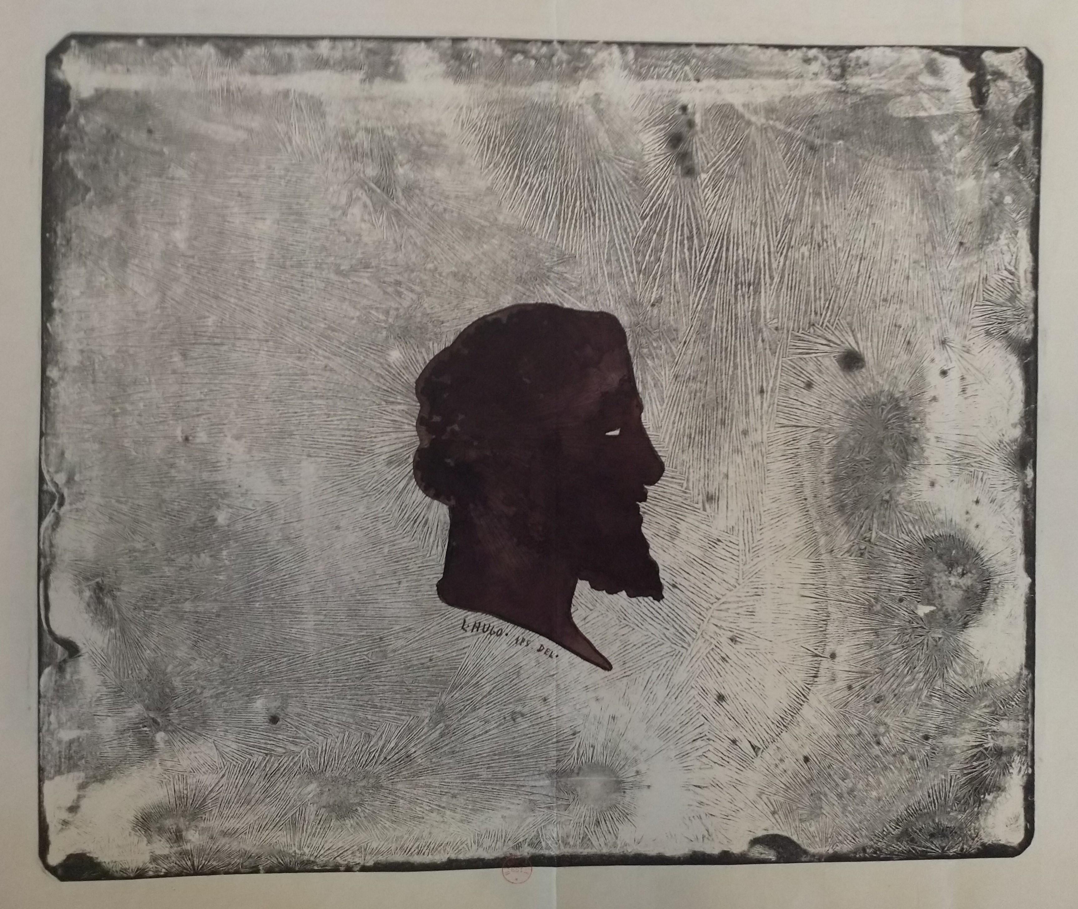 Leopold Armand Hugo BNF Autoportrait avec cristallisation de bichromate de potasse