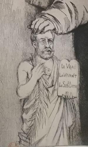 Leopold Armand Hugo BNF Autoportrait avec ses ascendants detail