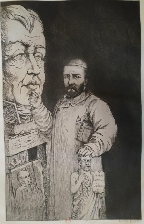 Leopold Armand Hugo BNF Autoportrait avec ses ascendants