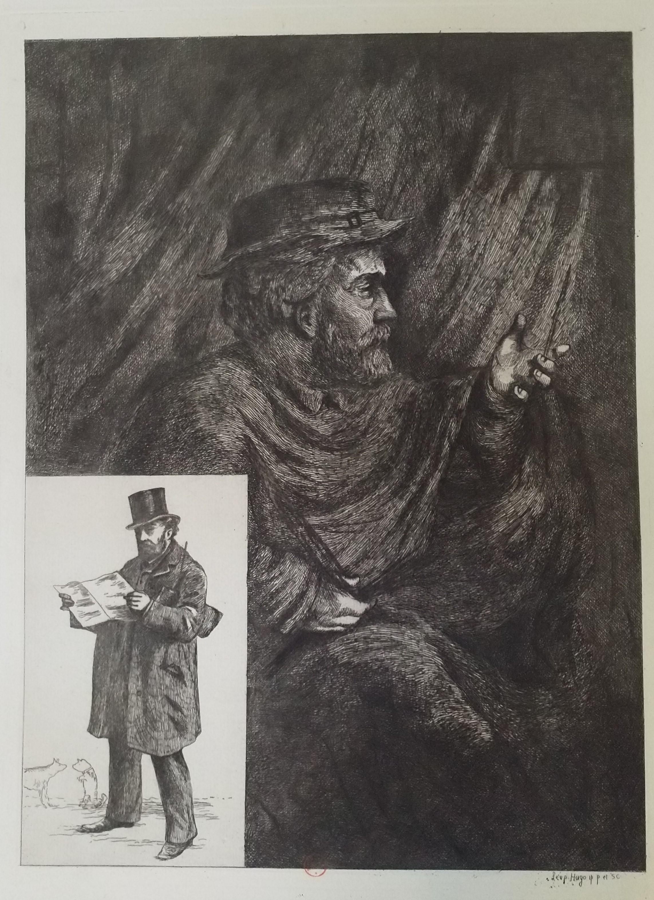 Leopold Armand Hugo BNF Autoportrait en bourgeois