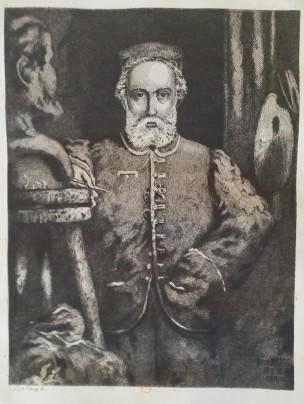 Leopold Armand Hugo BNF Autoportrait en sculpteur modelant un buste de Victor Hugo Rose Maury