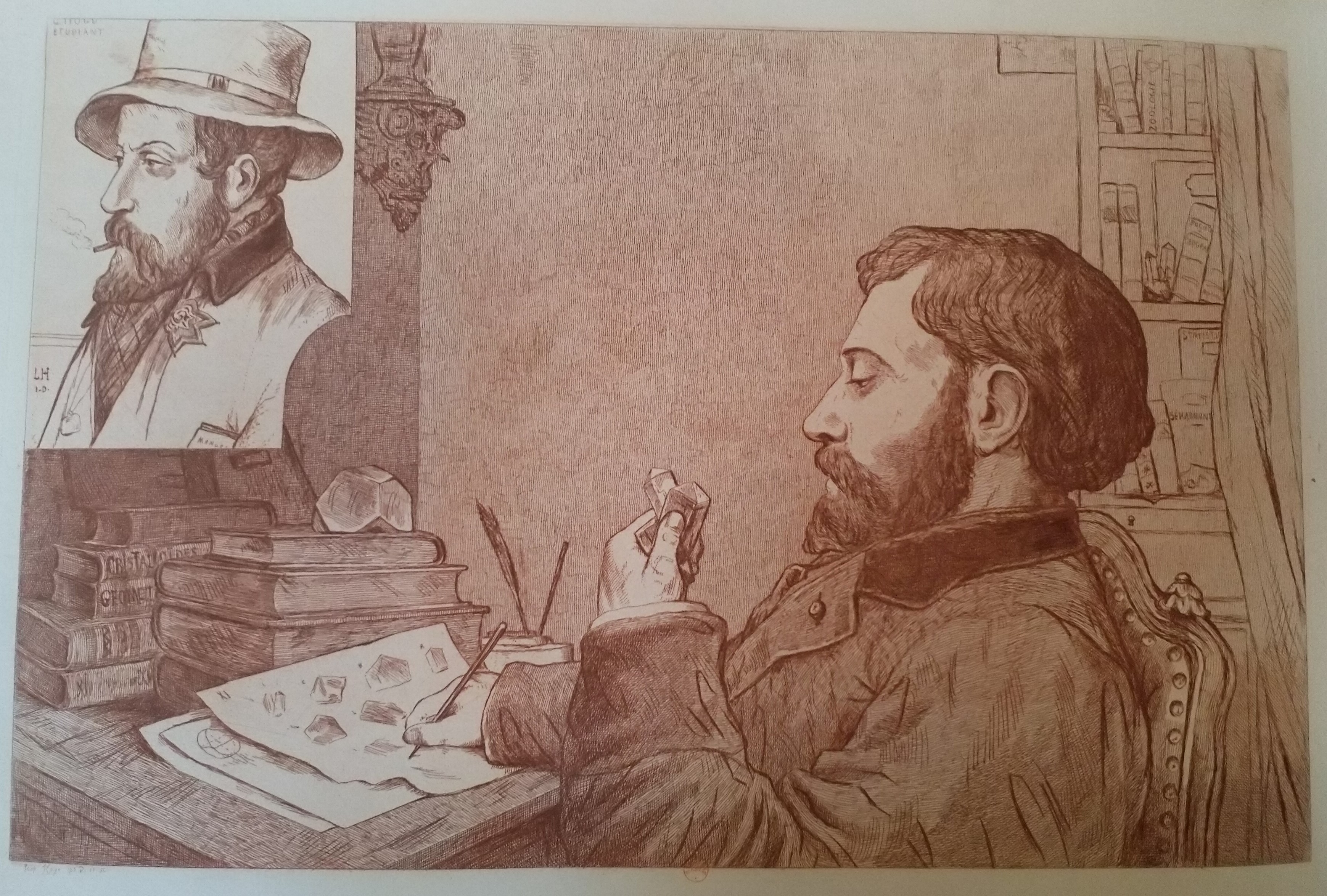 Leopold Armand Hugo BNF Autoportrait etudiant