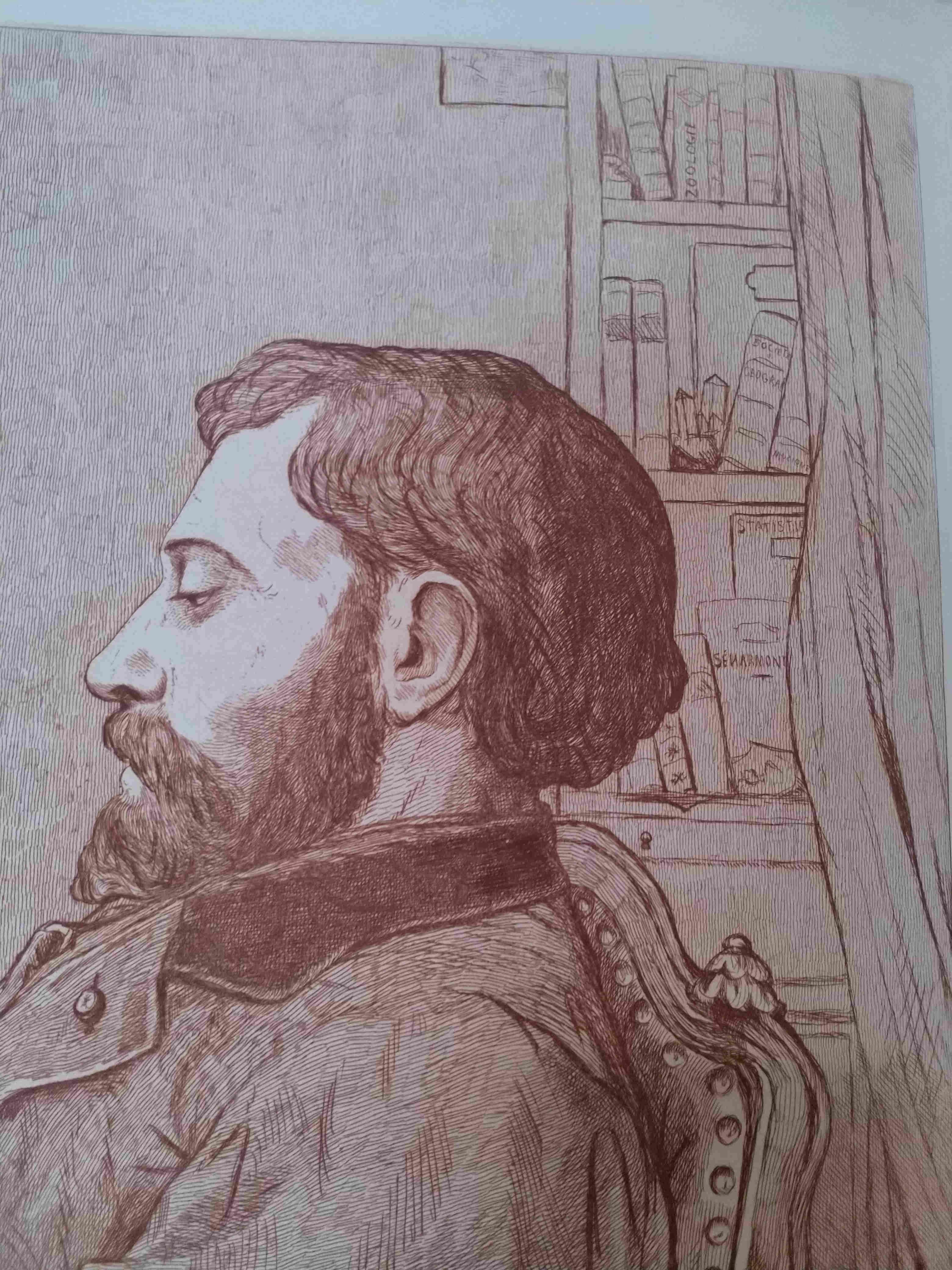 Leopold Armand Hugo BNF Autoportrait etudiant detail 1