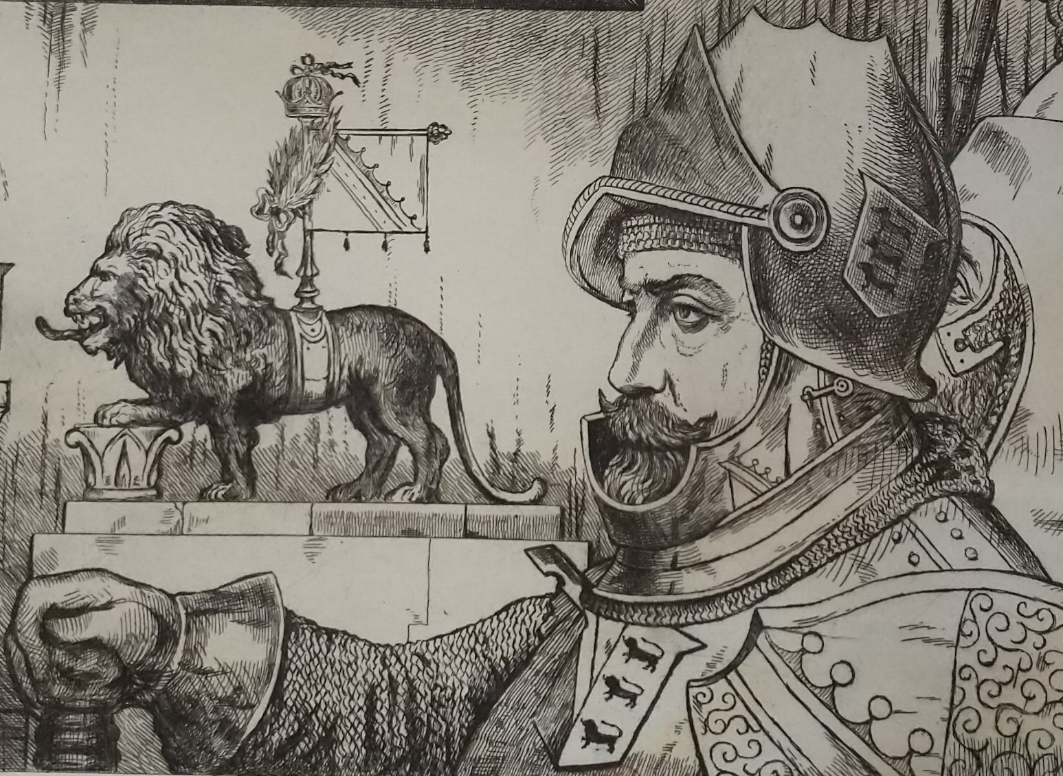 Leopold Armand Hugo BNF Chevalier aux lions detail 2