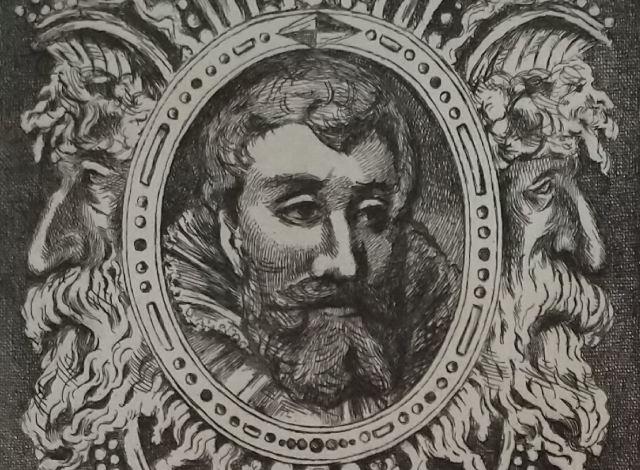 Leopold Armand Hugo BNF Chevalier aux lions detail