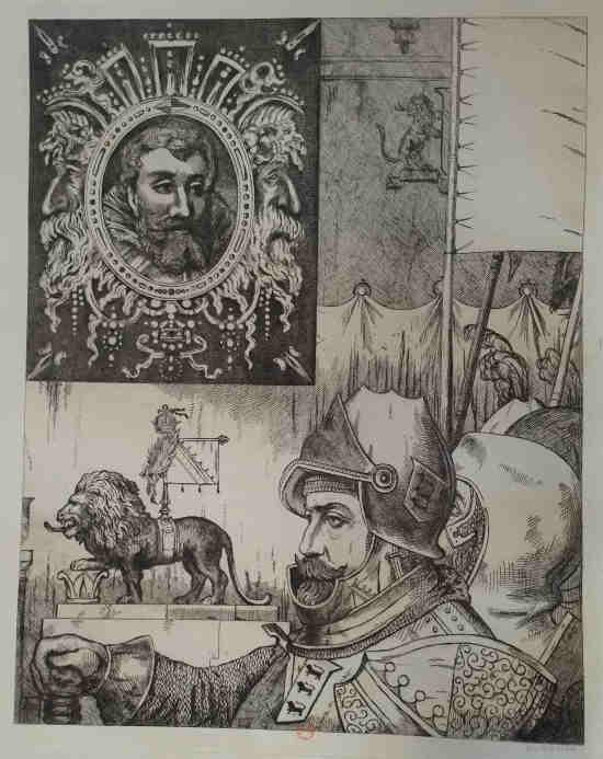 Leopold Armand Hugo BNF Chevalier aux lions