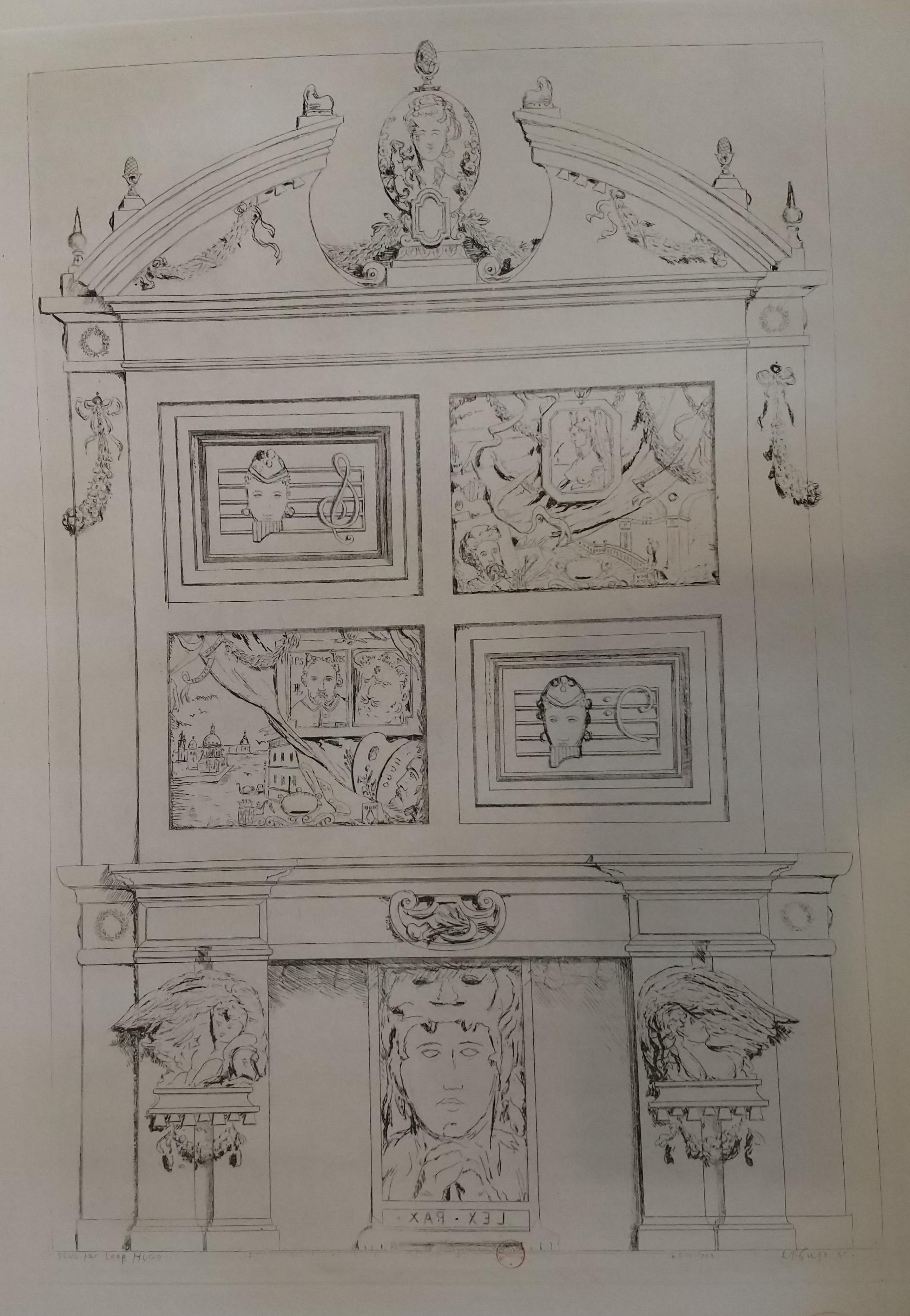 rmand Hugo BNF Facade de meuble