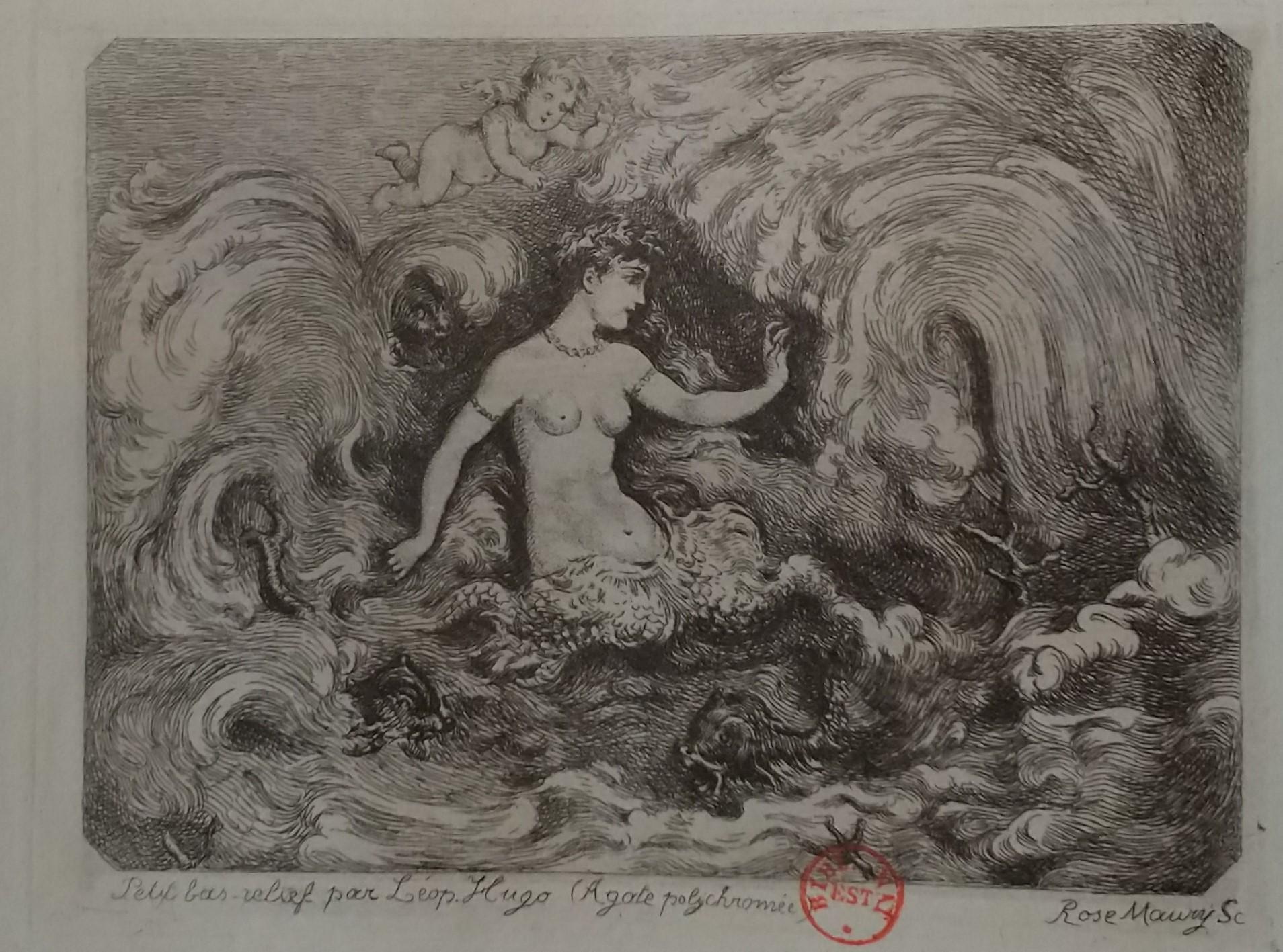 Leopold Armand Hugo BNF Femme a la vague Rose Maury