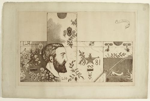 Leopold Armand Hugo Boite en maroquin Maison de Victor Hugo Hauteville House
