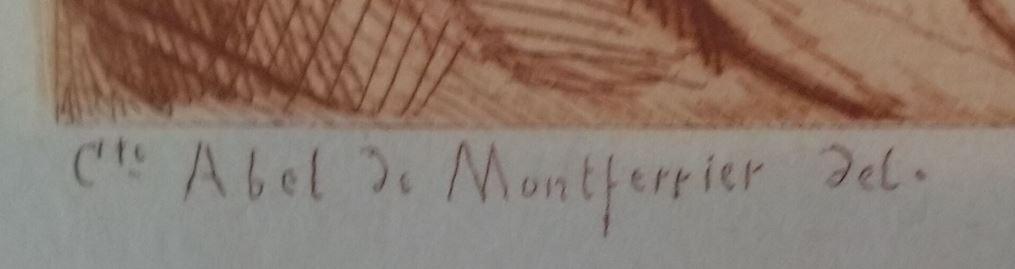 Leopold Armand Hugo Le marquis de Montferrier et le chevalier de Baillarguet detail signature