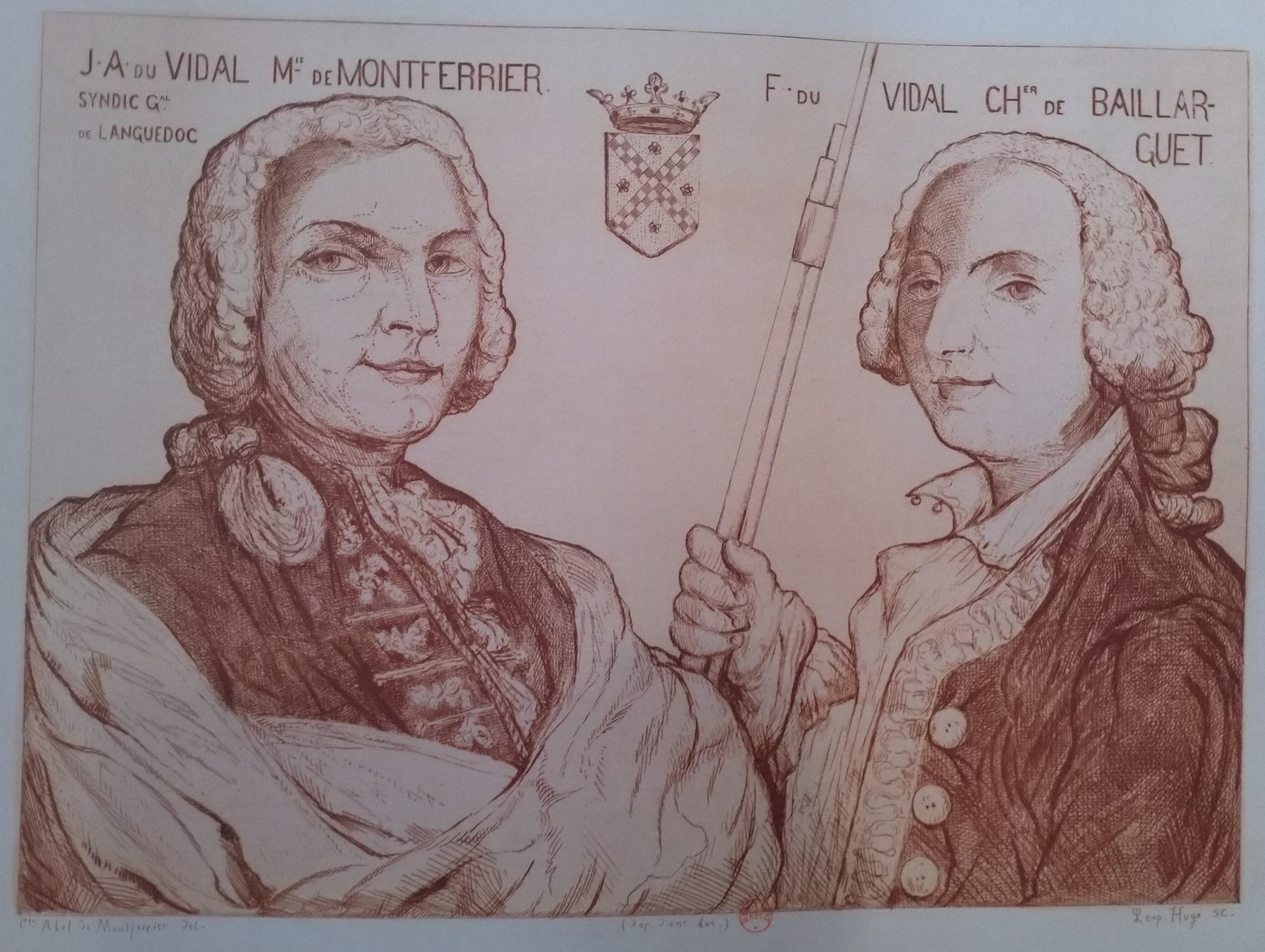Leopold Armand Hugo Le marquis de Montferrier et le chevalier de Baillarguet