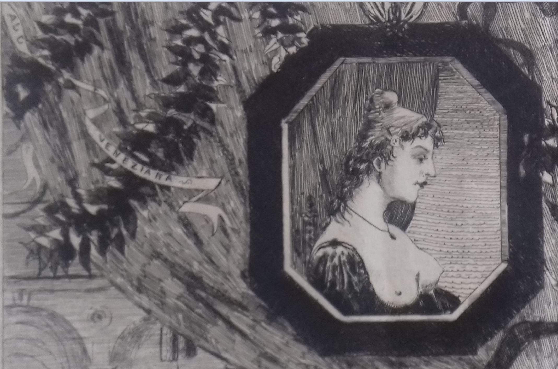 Leopold Hugo pendant venitien 1861 courtisane