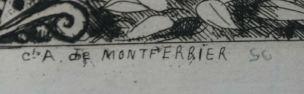 Leopold Hugo pendant venitien 1861 signature Montferrier