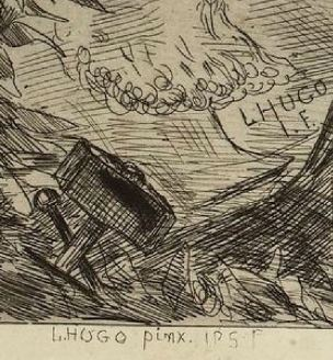 Leopold Hugo pendant venitien 1883 signature