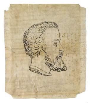 Par Leopold Hugo eleve d Horace Vernet. Son portrait croquis du marbre expose en 1874.