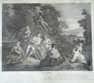 Pater A12 Le bain gravure de Duflos